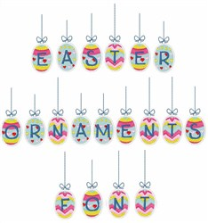Easter Ornaments Font  embroidery font