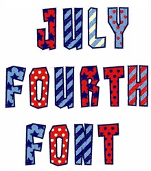 July Fourth Font  embroidery font