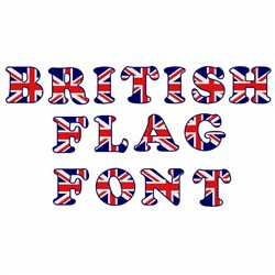 British Flag Font embroidery font