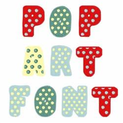 Pop Art Font embroidery font