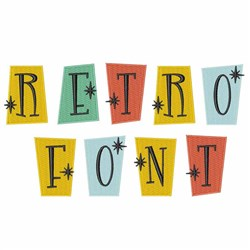 Retro Font embroidery font