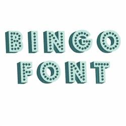 Bingo Font embroidery font