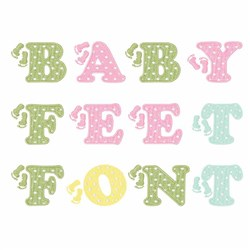 Baby Feet Font embroidery font