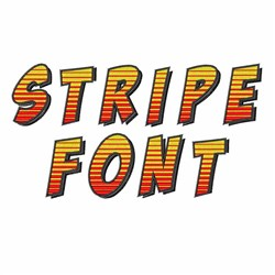 Stripe Font embroidery font
