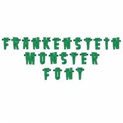 Frankenstein Monster font embroidery font