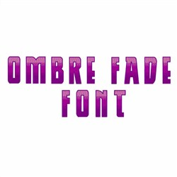 Ombre Fade Font embroidery font