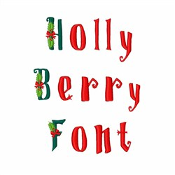 Holly Berry Font embroidery font