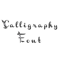 Calligraphy Font embroidery font