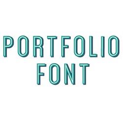 Portfolio Font embroidery font