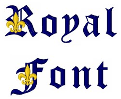 Royal Font embroidery font