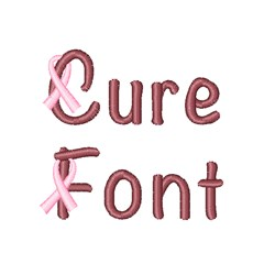 Cure font embroidery font