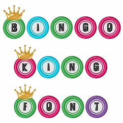 Bingo King Font embroidery font