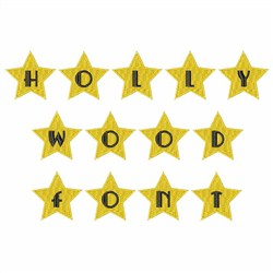 Hollywood Font embroidery font