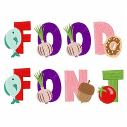 Food Font embroidery font