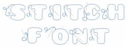 Stitch Font embroidery font
