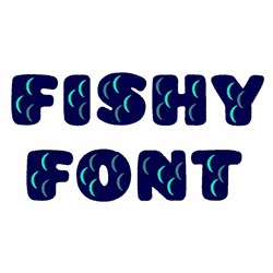 Fishy Font embroidery font