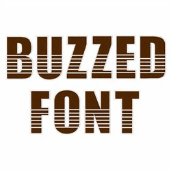Buzzed Font embroidery font