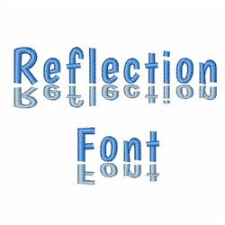 Reflection Font embroidery font