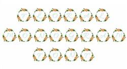 Floral Monogram Font embroidery font