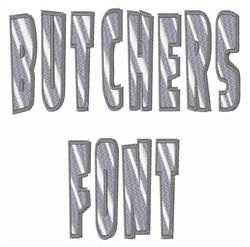Butchers Font embroidery font