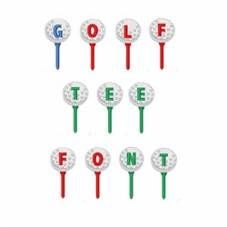 Golf Tee Font embroidery font