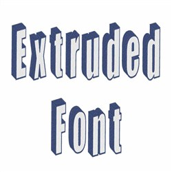 Extruded Font embroidery font