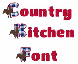Coun Try Kitchen embroidery font