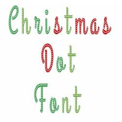 Christmas Dot Font embroidery font