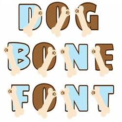 Dog Bone Font embroidery font