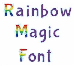 Rainbow Magic Font embroidery font