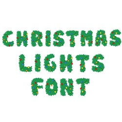 Christmas Lights Font embroidery font