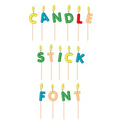 Candle Stick Font embroidery font