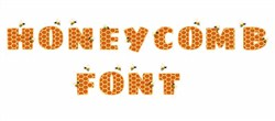 Honeycomb Font embroidery font