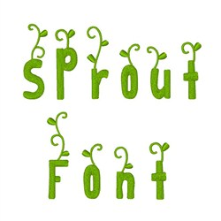 Sprout Font embroidery font