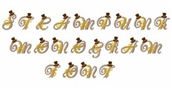 Steampunk Monogram Font embroidery font