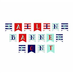 Sailing Banner Font embroidery font
