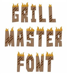 Grill Master Font embroidery font