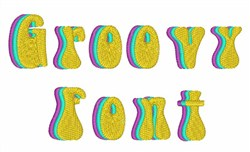Groovy Font embroidery font