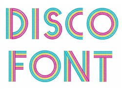 Disco Font embroidery font