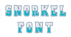 THREE COLOR ATHLETIC embroidery font