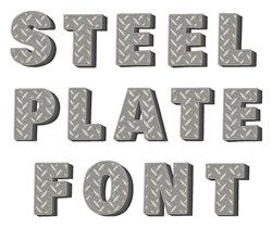Steel Plate Font embroidery font