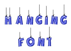 Hanging Font embroidery font