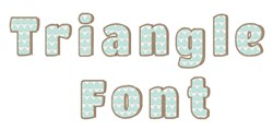 Triangle Font embroidery font
