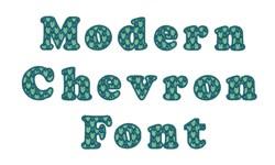 Modern Chevron Font embroidery font