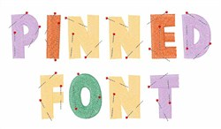Pinned Font embroidery font