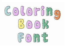 Coloring Book Font embroidery font