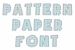Pattern Paper Font embroidery font