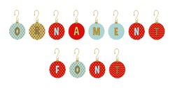 Ornament Font embroidery font