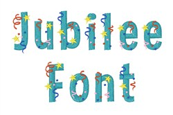 Jubilee Font embroidery font