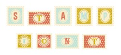 Stamp Font embroidery font